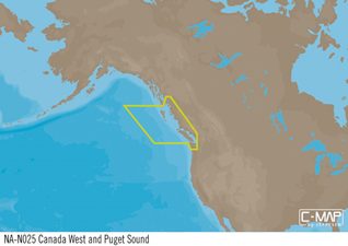 C-MAP MAX-N+ W: CA W INC PUGET SOUND