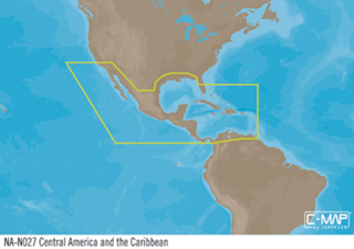 C-MAP MAX-N+ W: Central America & Caribbean