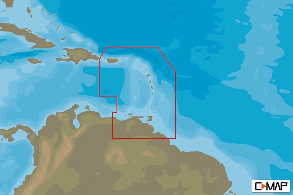 C-MAP MAX-N L: PUERTO RICO - RIO ORINOCO   B&G Sailing USA