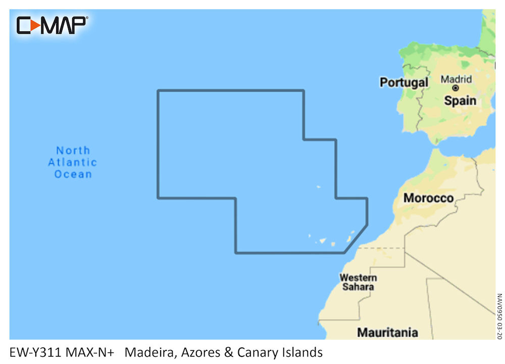 C Map Max N Local Chart Madeira Azores And Canary Islands B G Sailing Usa