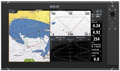 Zeus³ 16 chartplotter with C-MAP cartography